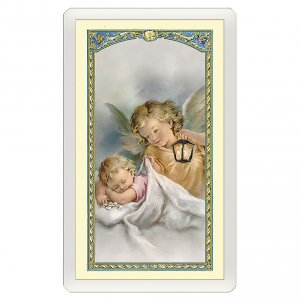 Holy cards: Holy card, Guardian Angel, Prayer to the Guardian Angel ITA 10x5 cm