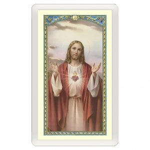 Holy cards: Holy card, Sacred Heart, Anima Christi ITA 10x5 cm