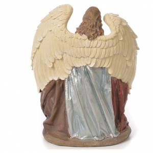 Holy Family with Angel in resin, 31cm natural s3