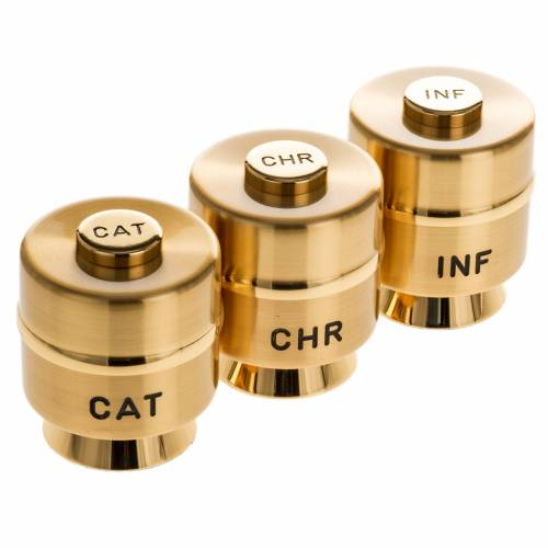 Holy Oils: Stocks, gold plated brass s1