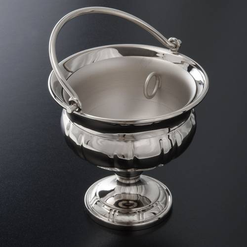 Holy water pot nickel-plated brass s2