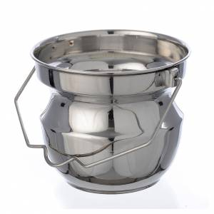 Blessing items: Holy water vessel for blessings in steel