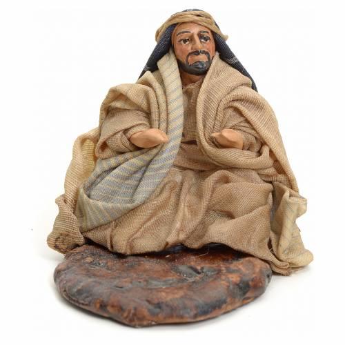 Homme arabe assis crèche Napolitaine 8 cm s1