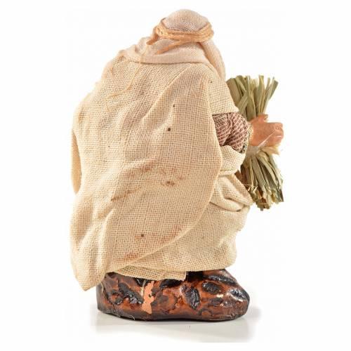 Homme au foin crèche Napolitaine 6 cm style arabe s2