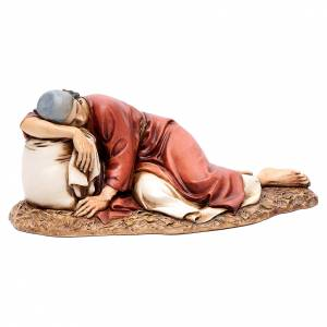 Crèche Moranduzzo: Homme endormi 20 cm résine Moranduzzo