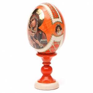 Huevos rusos pintados: Huevos icono Rusa Feodorovskaya h tot. 13 cm