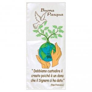 Aspergill, Weihwasserflaschen, Weihwasserkessel: Hülle für den Palmsonntag Motiv Friede auf Erden 500 Stück