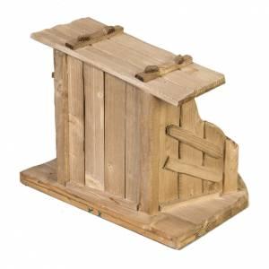 Krippe Hütten und Grotten: Hütte für Krippe aus Holz 28x38x28 cm