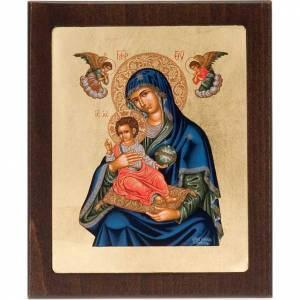 Icne imprimée Marie et enfant le monde dans les mains s1