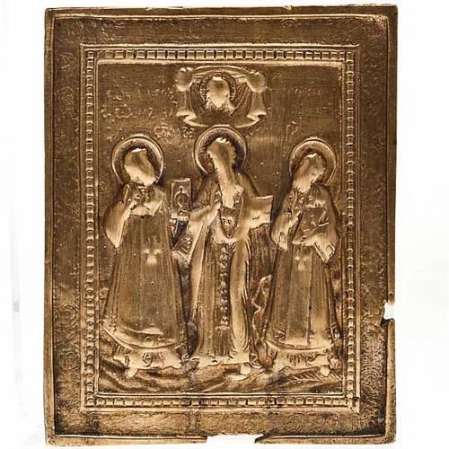 Icona antica bronzo '700