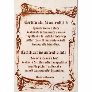 Icona dell'Annunciazione tavola sagomata 120x45 cm s2
