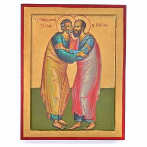 Icona Greca SS. Pietro e Paolo 31x24 cm s1