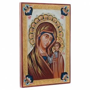 Icona Madonna di Kazan decori policromi s2