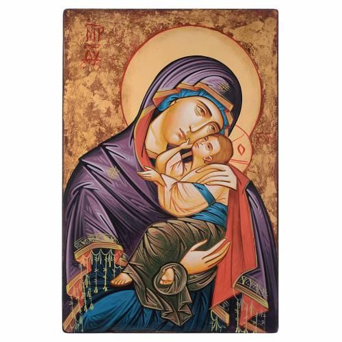 Icona Romania dipinta a mano Glicofilussa 60x40 cm s1