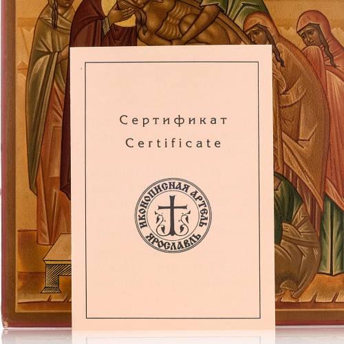 Icona russa Deposizione della croce 22x27 cm s6