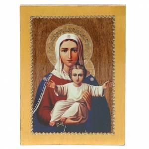Icone Russia dipinte: Icona Russa Sono con te e nessuno contro 20x15 cm