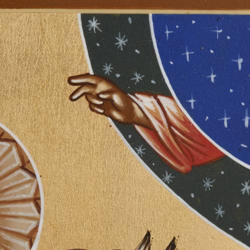 Icona Russia San Giorgio 26x31 dipinta s5