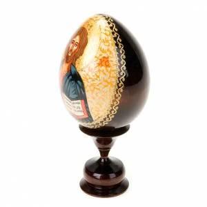 Uovo icona dipinta a mano Cristo Pantocratore s2