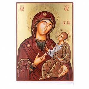 Icone Romania dipinte: Icona sacra Vergine Hodighitria 45 x 30 cm Romania