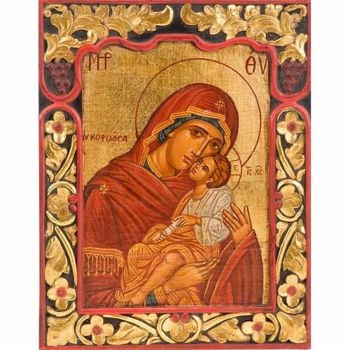 Icona Vergine Glikofilussa bordo intagliato 1