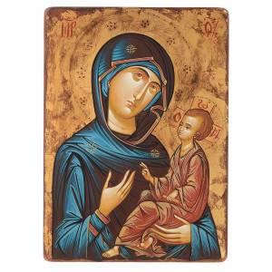 Icone Romania dipinte: Icona Vergine Hodighitria 45 x 30 cm Romania