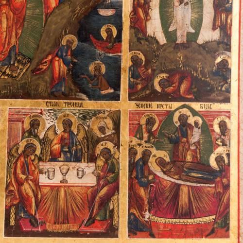Icône ancienne les douze fêtes de l'anné 7