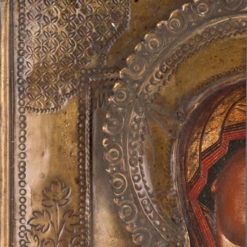 Icône ancienne Vierge de Tichvin 2