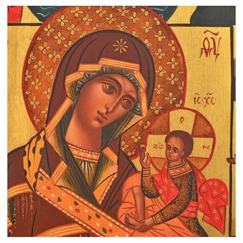 Icône peinte russe Vierge de Feodor 36x30 cm s2