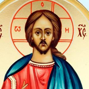 Icône russe peinte à la main, 6x9  Christ pantocrat s3
