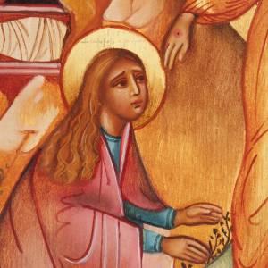 Icône Russe peinte Noli me tangere Jésus et Madelei s2
