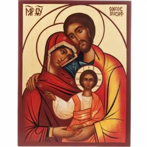 Icône russe peinte Sainte Famille s1