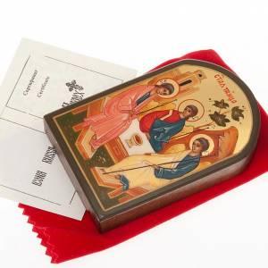 Icône russe sainte trinité, 6x9 cm s2