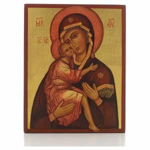 Icône russe Vierge de Belozersk 14x11 cm s1