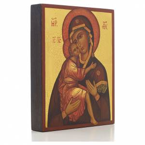 Icône russe Vierge de Belozersk 14x11 cm s2