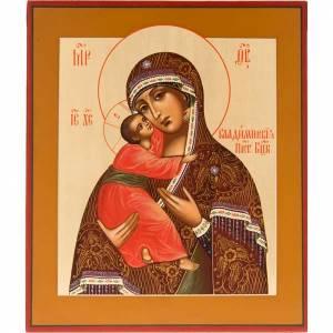 Icône Vierge de Vadimir Russie peinte s1