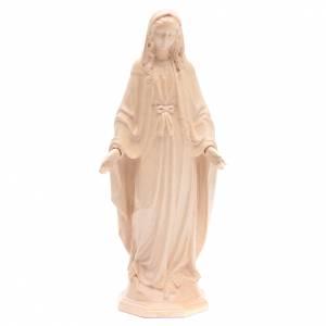 Imágenes de madera natural: Imagen de la Virgen Inmaculada de madera natural patinada de la Val Gardena