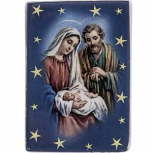 Imanes de los Santos, Virgen y Papa: Imán rectangular de cerámica Sagrada Familia
