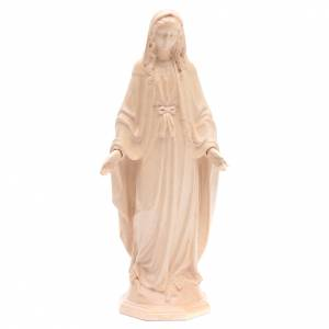 Immaculate Mary statue in Valgardena wood, natural wax s1