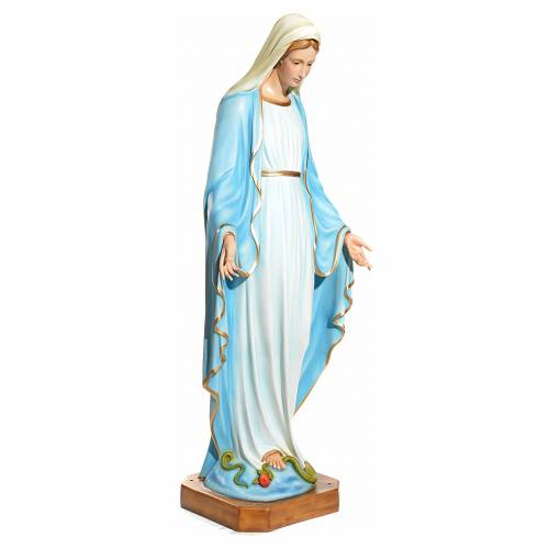 Immaculate Virgin Mary statue with crystal eyes 145cm in fibergl s2