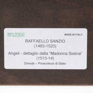 Impresión madera Ángeles de Rafael Sanzio con marc s3