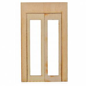Infisso legno presepe 15x9 cm s1