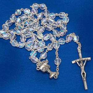 Iridescent glass rosary s5