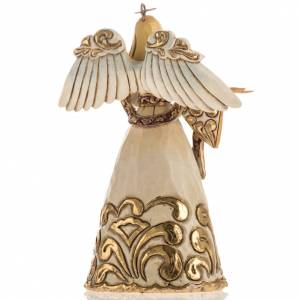 Ivory and Gold colour Angel Hanging Ornament by Jim Shore s4
