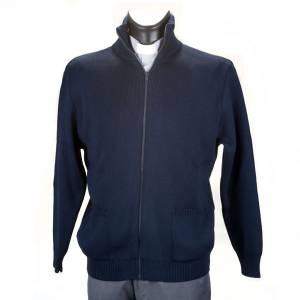 Pullover: Jacke Stehkragen Blau