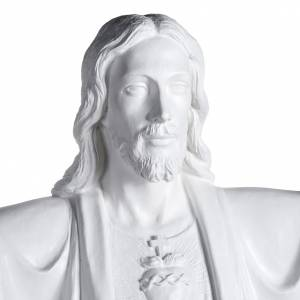Fiberglas Statuen: Jesu Erlöser 200 cm weisses Fiberglas