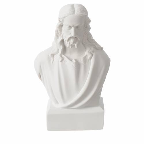 Jesus bust in reconstituted carrara marble, 19 cm s1