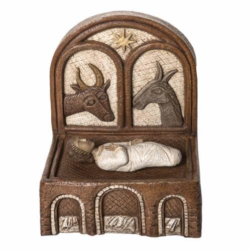 Jésus dans sa mangeoire Grande crèche d'autun pierre Bethlé s1