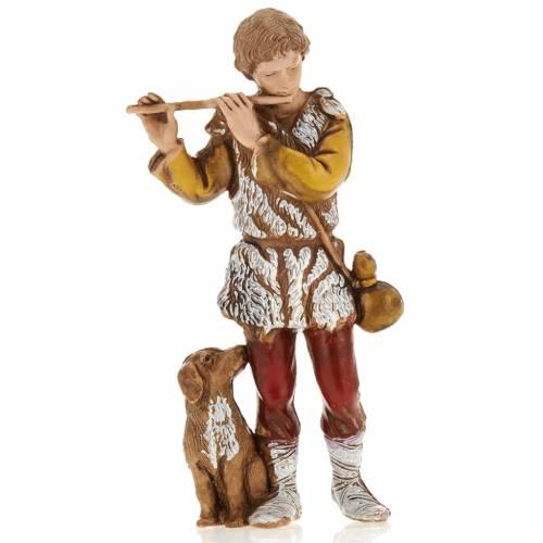 Joueur de fifre, santon crèche Moranduzzo 8 cm s1
