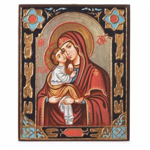 Handgemalte rumänische Ikonen: Ikone Gottesmutter vom Don