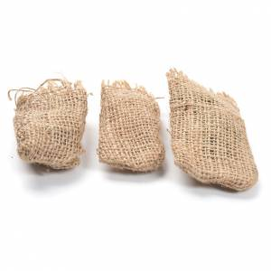 Jute sacks 3 pcs. nativity accessories s1